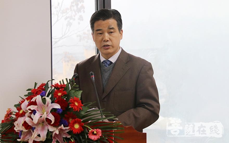 安徽省宗教局副局长罗曙生提出三点要求(图片来源:菩萨在线 摄影:妙月)