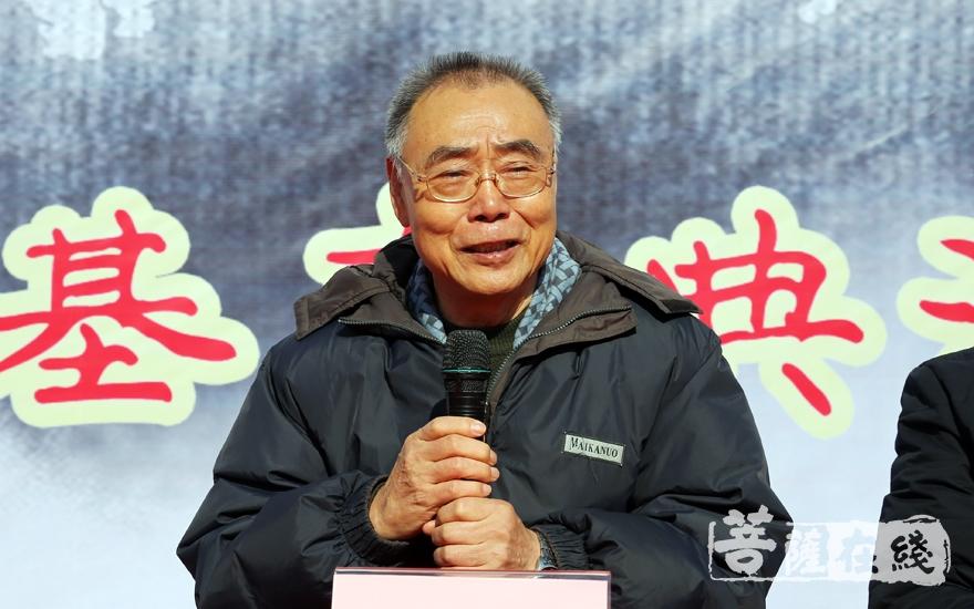 专家学者麻天祥讲话(图片来源:菩萨在线 摄影:妙雨)