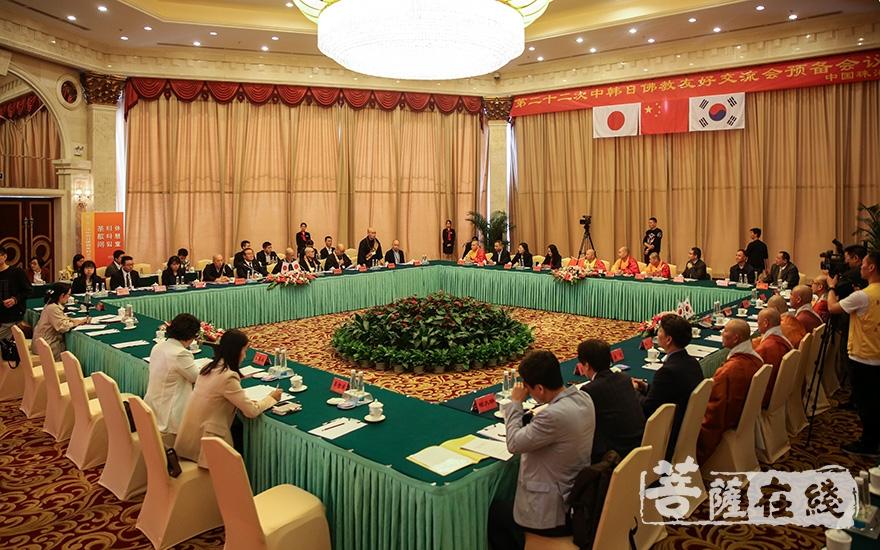 第二十二次中韩日佛教友好交流会召开预备会议(图片来源:菩萨在线 摄影:果仁)
