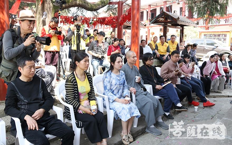 观看茶艺表演(图片来源:菩萨在线 摄影:妙祺)