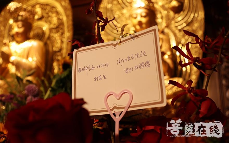 为广大学子备考祈福(图片来源:菩萨在线 摄影:施琪)
