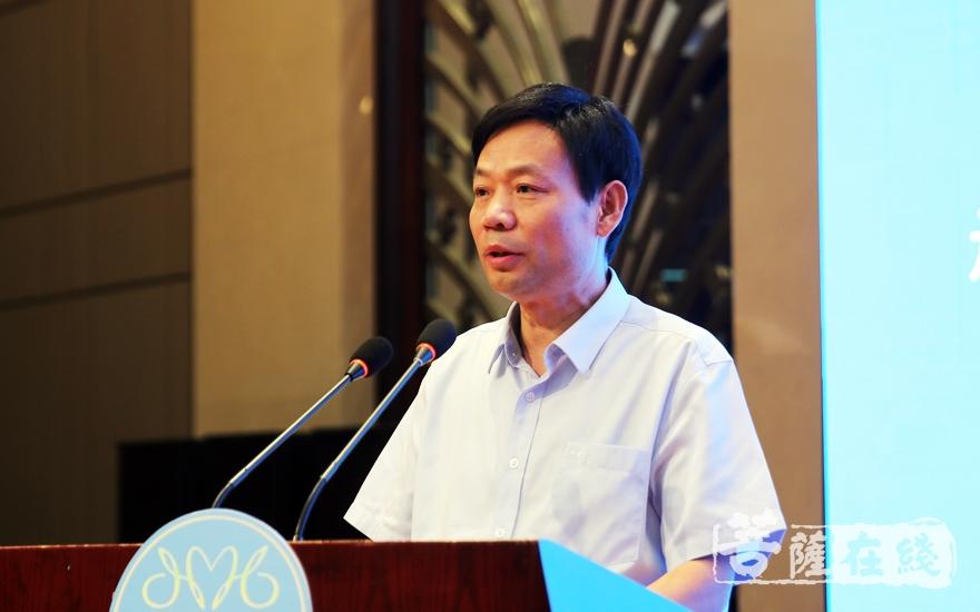 吳爾松局長希望淮海地區佛教界以此次論壇為契機(圖片來源:菩薩在線 攝影:李蘊雨)