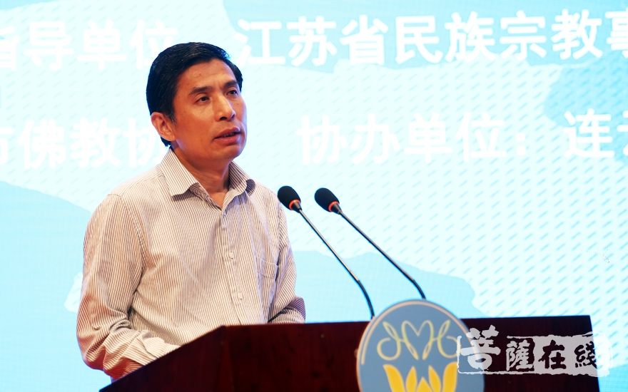 畢于瑞副市長就辦好淮海論壇推出三點希望(圖片來源:菩薩在線 攝影:唐雪鳳)