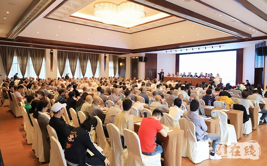 近500人出席会议(图片来源:菩萨在线 摄影:张妙)