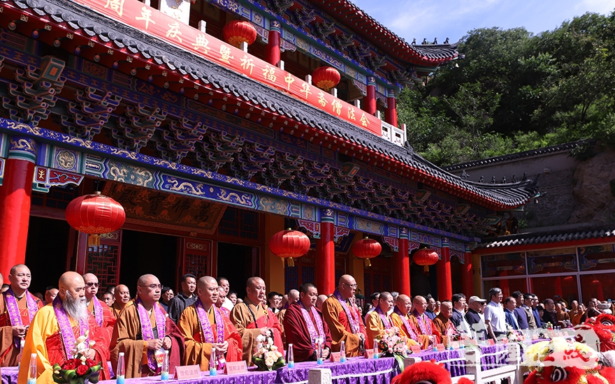 錦州北普陀寺中興二十周年慶典法會(圖片來源:菩薩在線 攝影:王穎)