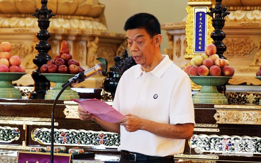 厦门市慈善总会常务副会长张友福致辞(图片来源:菩萨在线 摄影:施琪)