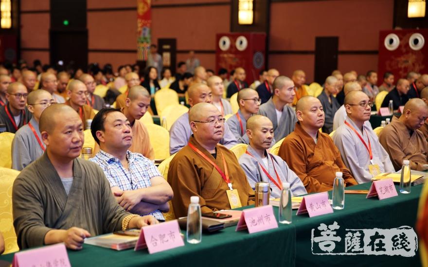 各市佛教界代表出席开幕式(图片来源:菩萨在线 摄影:李蕴雨)
