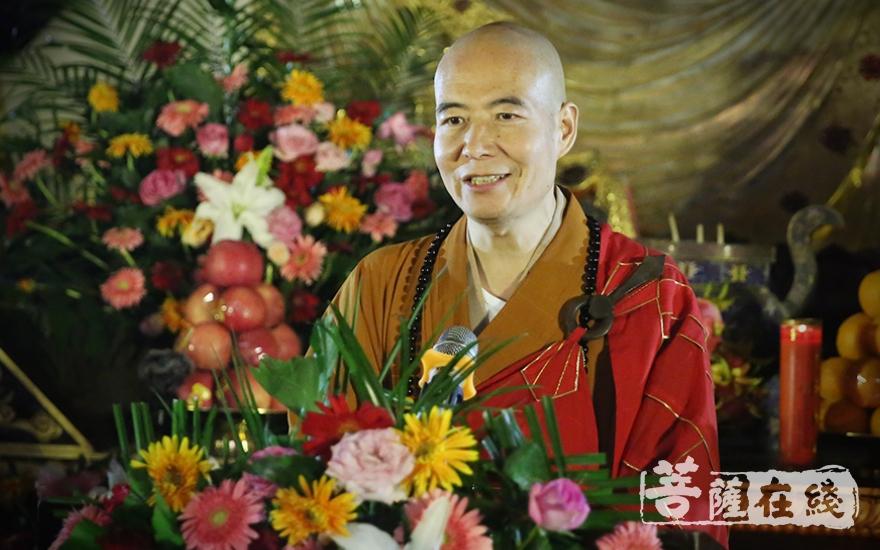 宽容大和尚表示,禅宗文化对中国传统文化有很深刻的影响(图片来源:菩萨在线 摄影:王正强)