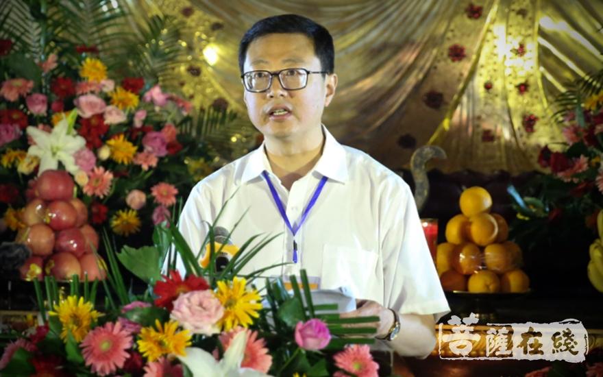杨三忠副主任要求,推动传统文化走出去(图片来源:菩萨在线 摄影:唐林雪)