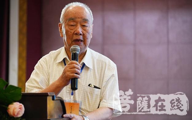 温玉成教授表示少林文化是人类文化非常重要的一部分(图片来源:菩萨在线 摄影:唐林雪)