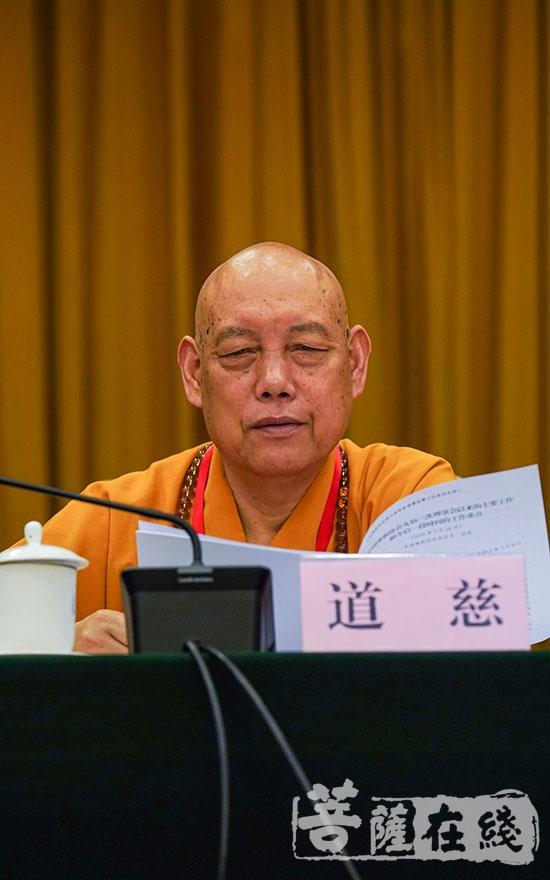 道慈法师(图片来源:菩萨在线 摄影:唐林雪)