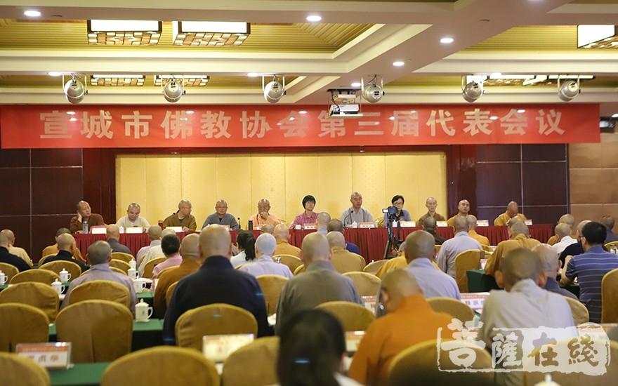 宣城市佛教协会三届常务理事会第二次全体会议(图片来源:菩萨在线 摄影:王颖)