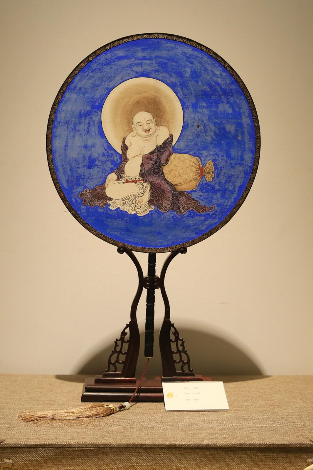 工扇《弥勒菩萨》(图片来源:菩萨在线 摄影:张妙)