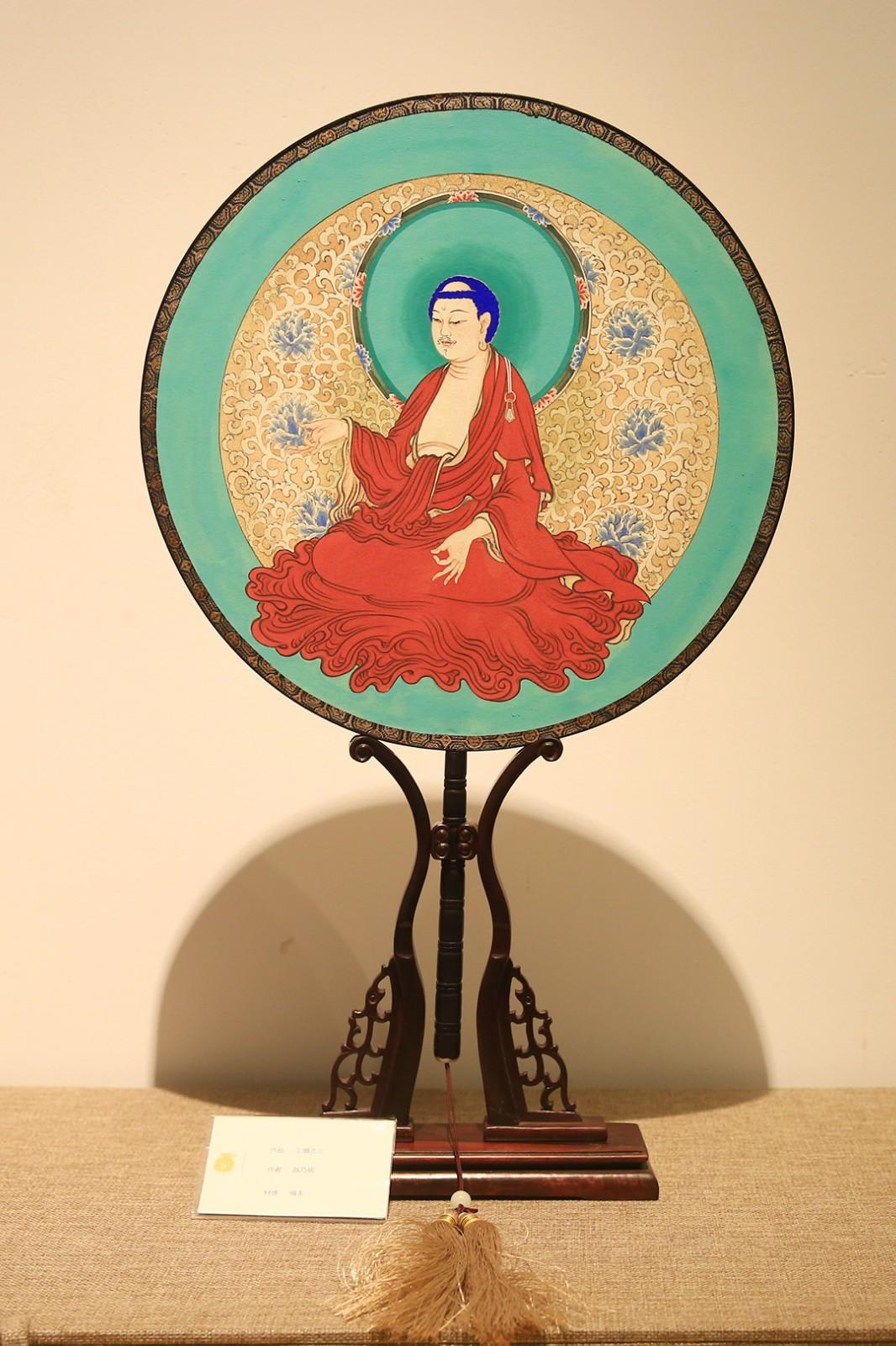 工扇《地藏菩萨》(图片来源:菩萨在线 摄影:张妙)