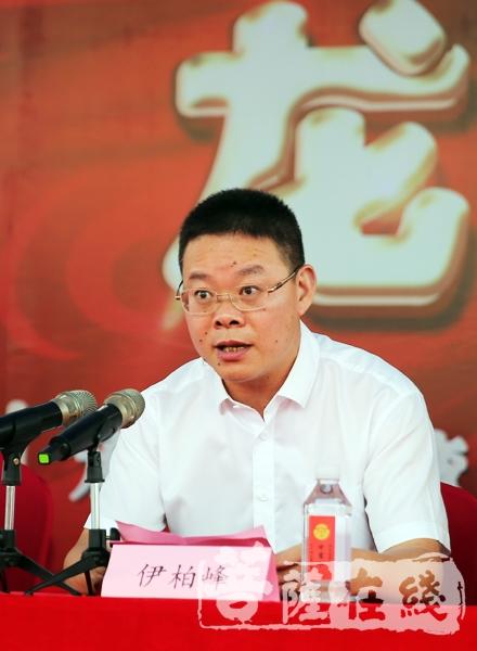 龍灣區統戰部部長伊柏峰對此次活動表示祝賀(圖片來源:菩薩在線 攝影:李蘊雨)