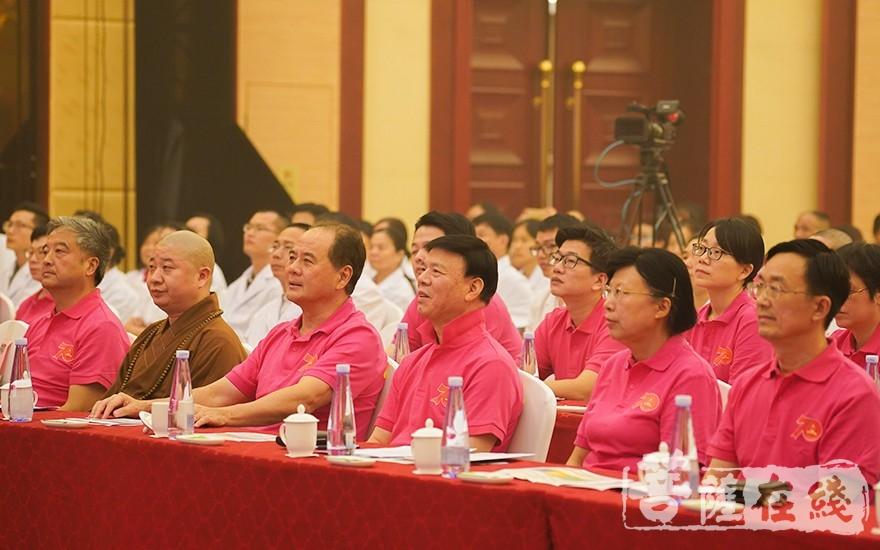出席大會的領導嘉賓、大德法師(圖片來源:菩薩在線 攝影:唐雪鳳)