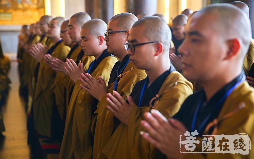 聆听七位尊证师开示(图片来源:菩萨在线 摄影:唐雪凤)