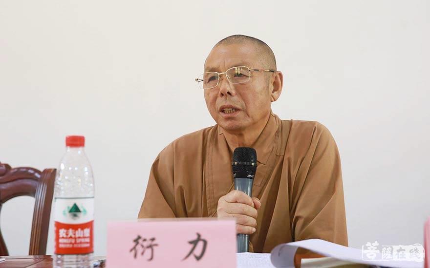 衍力法師表示將帶領阜寧佛教協會加強道風建設學習(圖片來源:菩薩在線 攝影:賀雪垠)