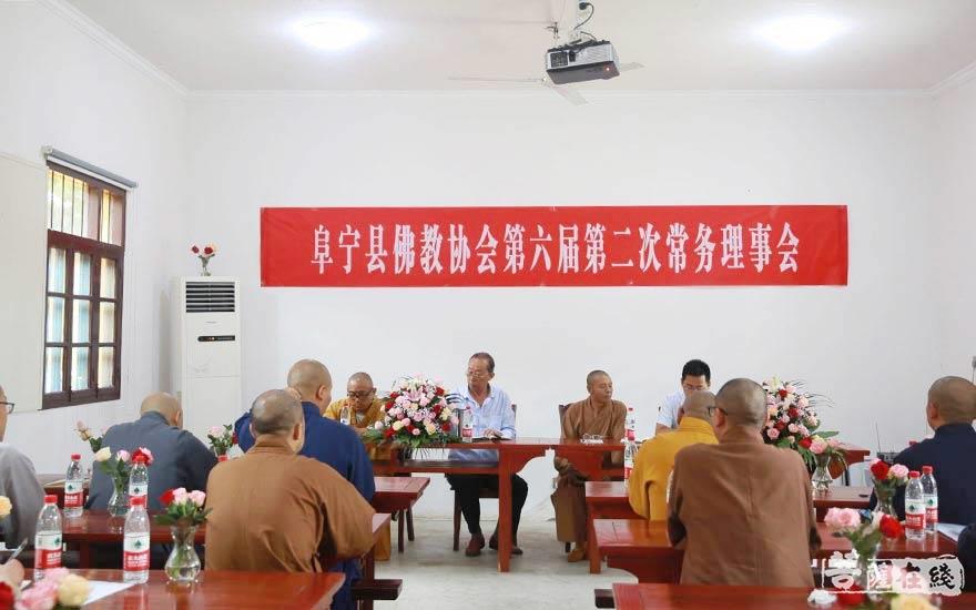 阜寧縣佛教協會召開第六屆第二次常務理事會(圖片來源:菩薩在線 攝影:賀雪垠)