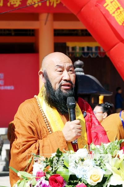 普法法師希望此次活動深化海絲佛教文化交流領域的互動(圖片來源:菩薩在線 攝影:李蘊雨)