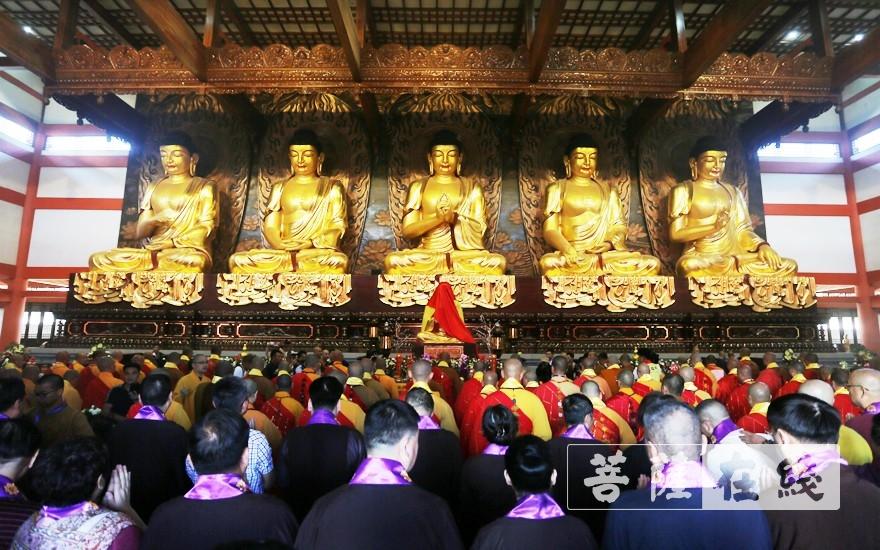 開光儀式于大雄寶殿舉行(圖片來源:菩薩在線 攝影:施琪)