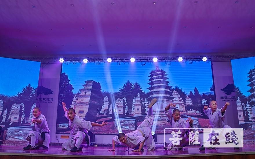 少林僧团《武术表演》(图片来源:菩萨在线 摄影:唐雪凤)