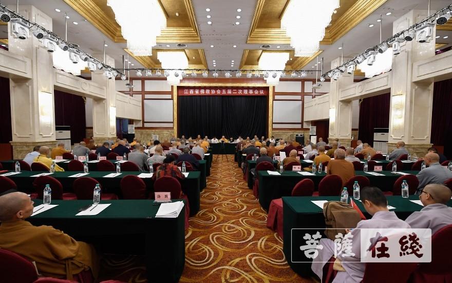 江西省佛教協會第五屆理事會第二次理事會議在南昌召開(圖片來源:菩薩在線 攝影:張妙)