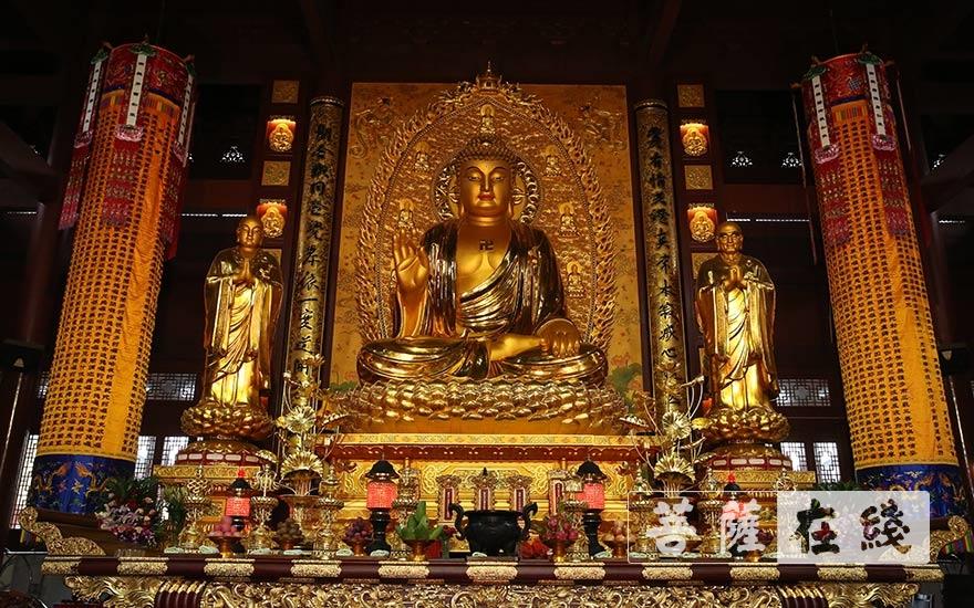 开光仪式圆满(图片来源:菩萨在线 摄影:贺雪垠)
