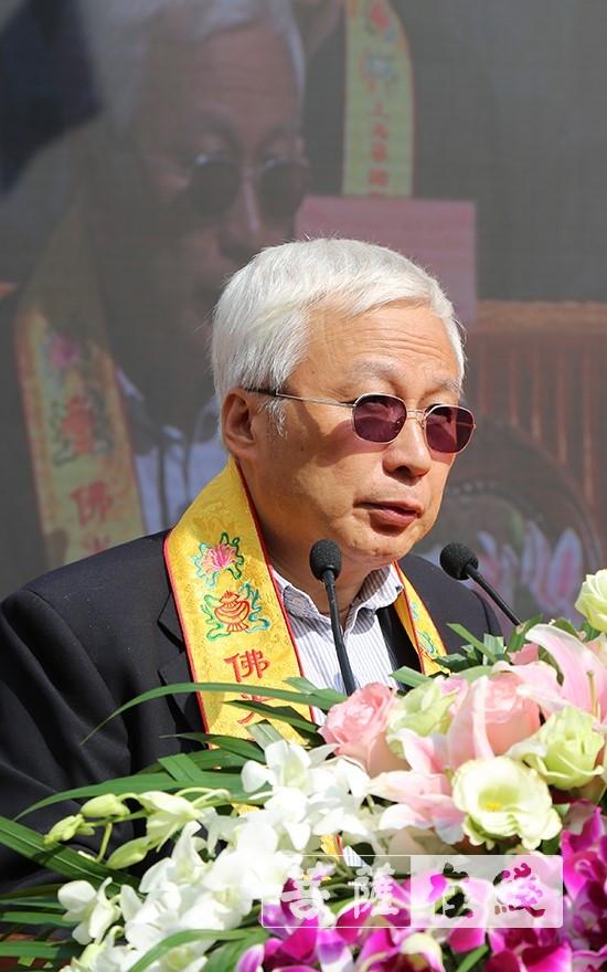 张国铭秘书长讲话(图片来源:菩萨在线 摄影:贺雪垠)