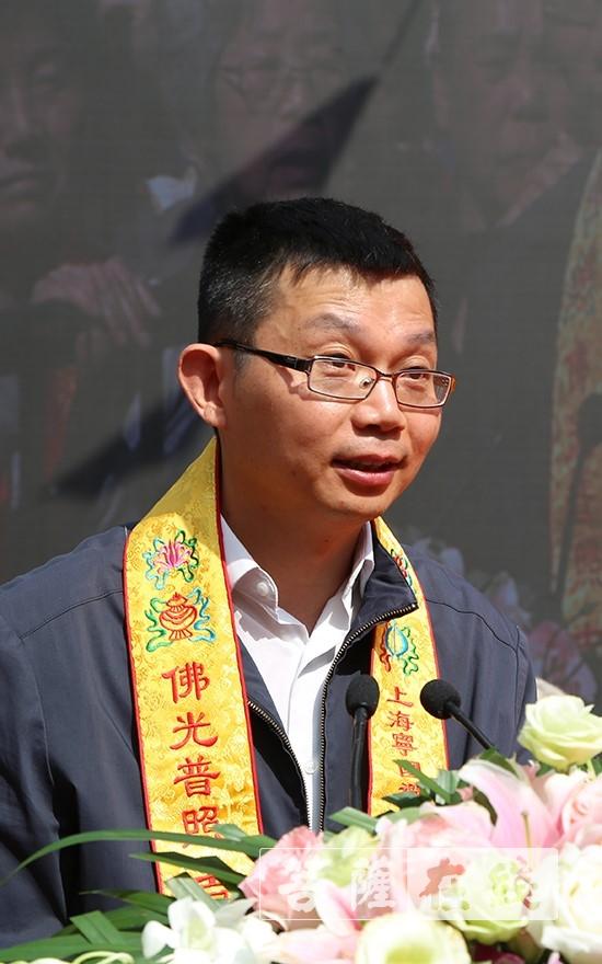 姜勇部长发表讲话并提出四点希望(图片来源:菩萨在线 摄影:王颖)