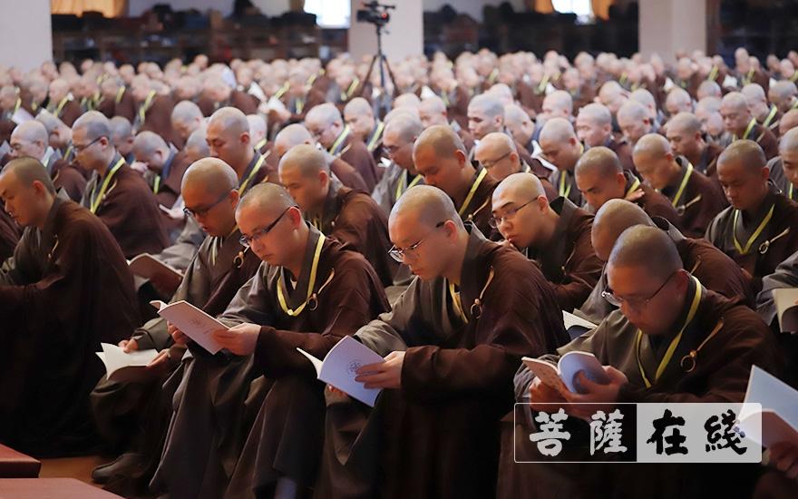 修习沙弥律仪(图片来源:菩萨在线 摄影:张妙)