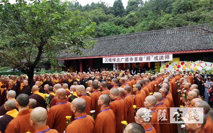荼毗现场(图片来源:菩萨在线 摄影:李蕴雨)