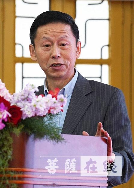 刘国正发表主题讲话(图片来源:菩萨在线 摄影:唐林雪)