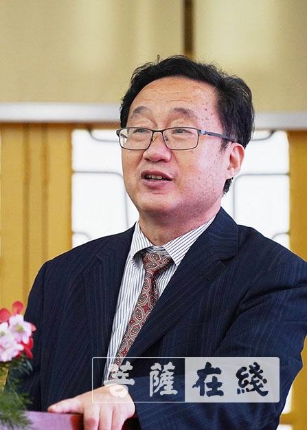 郭试瑜发表主题讲话(图片来源:菩萨在线 摄影:唐林雪)