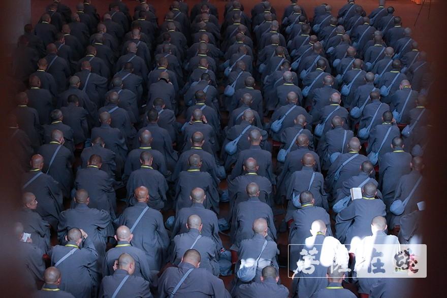 聆听开示(图片来源:菩萨在线 摄影:张妙)