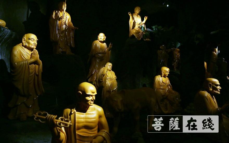五百罗汉像(图片来源:菩萨在线 摄影:李蕴雨)