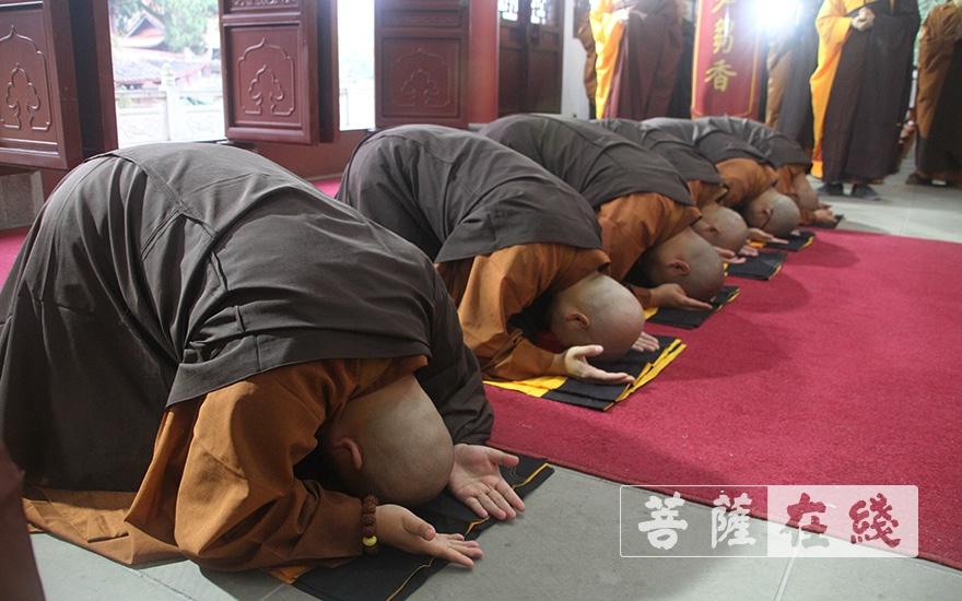 跪拜(图片来源:菩萨在线 摄影:王颖)