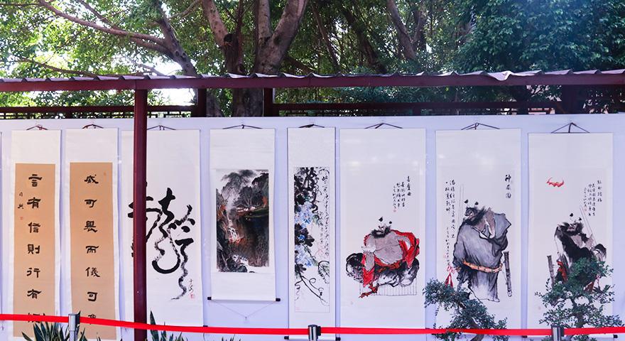 禅武书画展(图片来源:菩萨在线 摄影:张妙)