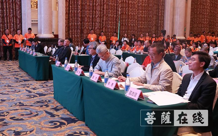出席学术交流会的领导嘉宾(图片来源:菩萨在线 摄影:张妙)