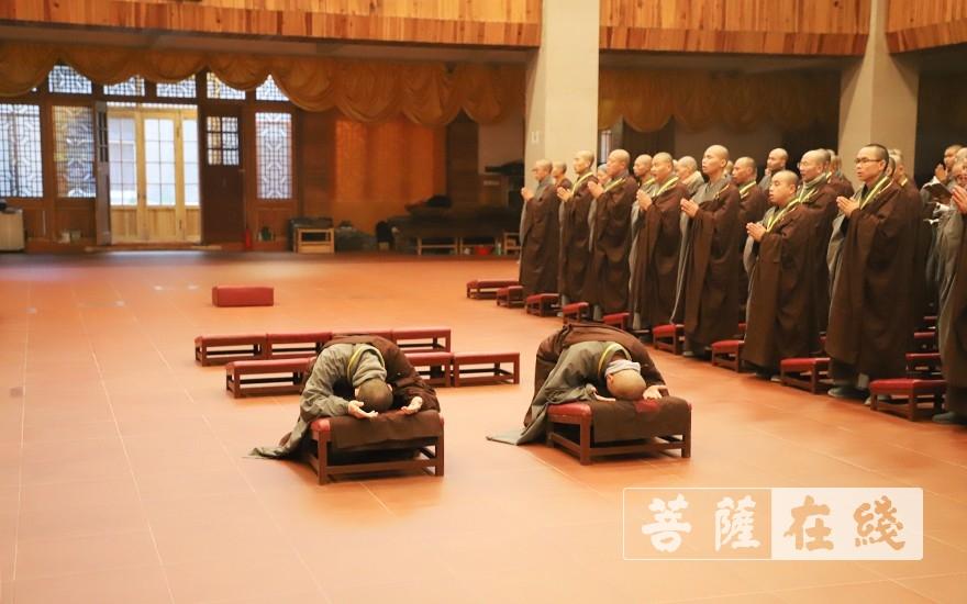 跪拜(图片来源:菩萨在线 摄影:唐雪凤)