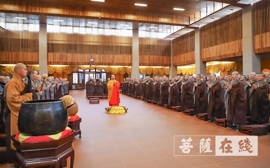合十唱诵(图片来源:菩萨在线 摄影:唐雪凤)