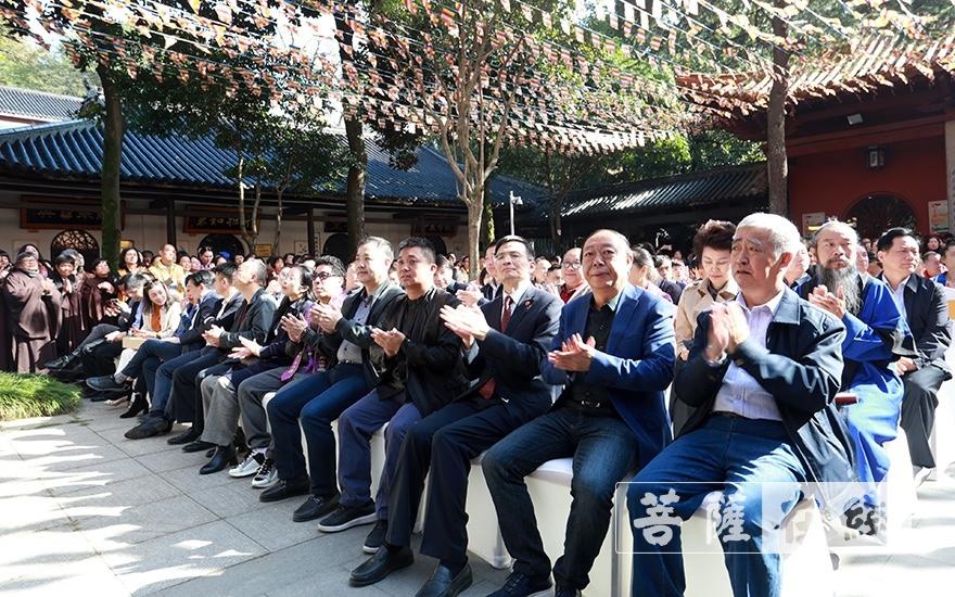 出席庆典的领导嘉宾(图片来源:菩萨在线 摄影:张妙)