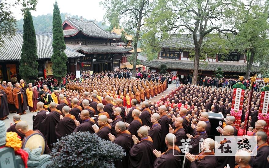 共同祈福(图片来源:菩萨在线 摄影:李蕴雨)