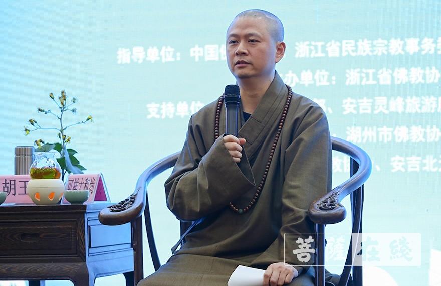 可祥大和尚:在历史上,浙江佛教就非常重视寺院的生态保护。有很多祖师大德在建设寺院、接引学人的同时,都非常重视寺院的环境建设、生态保护(图片来源:菩萨在线 摄影:张妙)