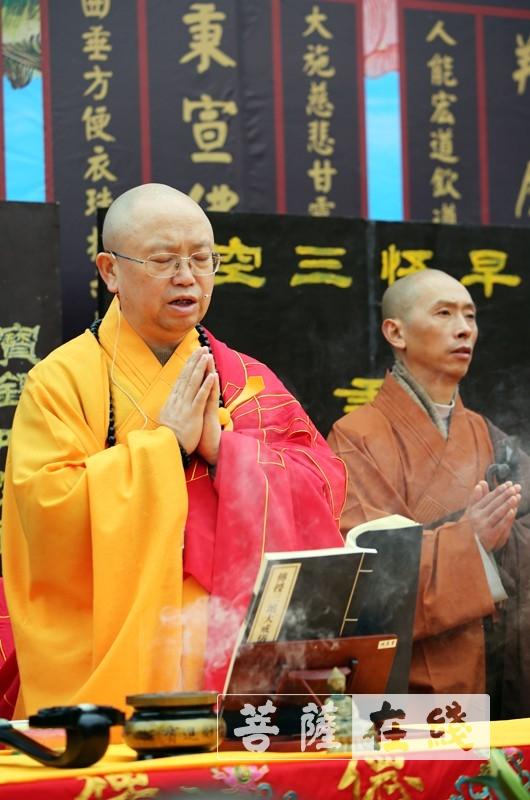 教授阿阇黎智海大和尚(图片来源:菩萨在线 摄影:李蕴雨)