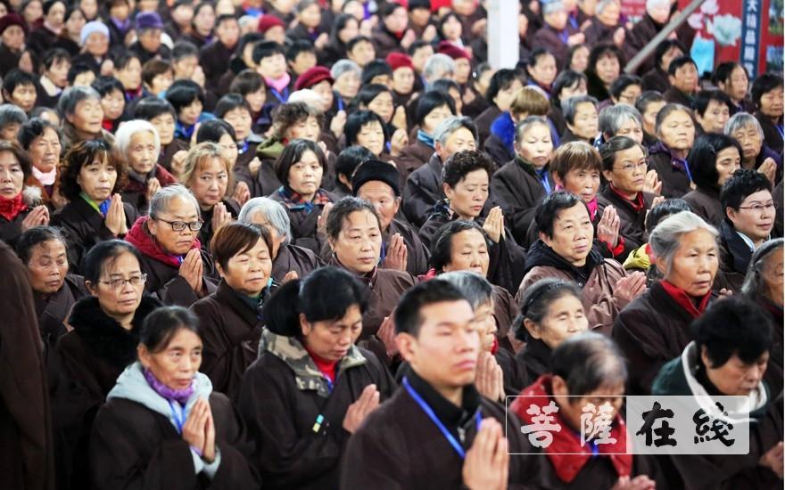 长跪合掌(图片来源:菩萨在线 摄影:李蕴雨)