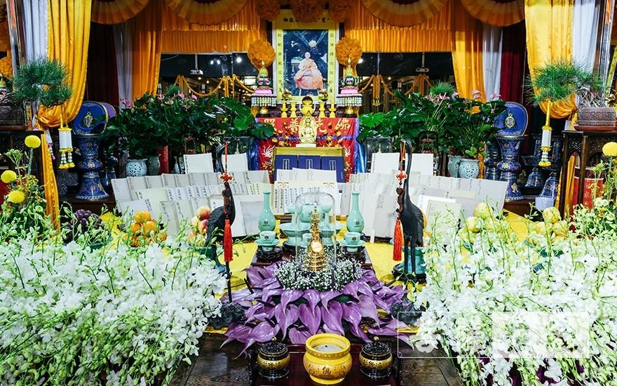 纪念宣航老和尚105岁冥诞法会(图片来源:菩萨在线 摄影:王颖)