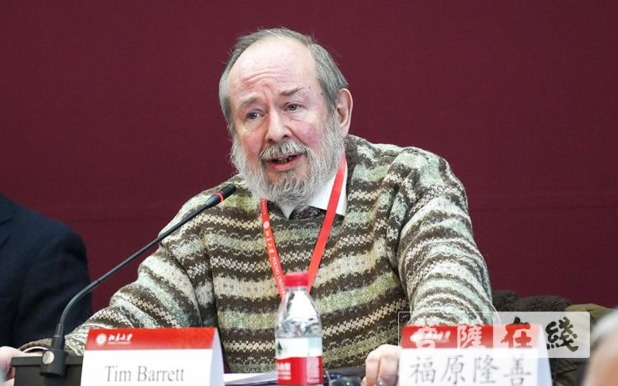 蒂姆·巴雷特(T·H·Barrett)教授:今人依然能够从天台宗的故事中学到很多东西(图片来源:菩萨在线 摄影:张妙)