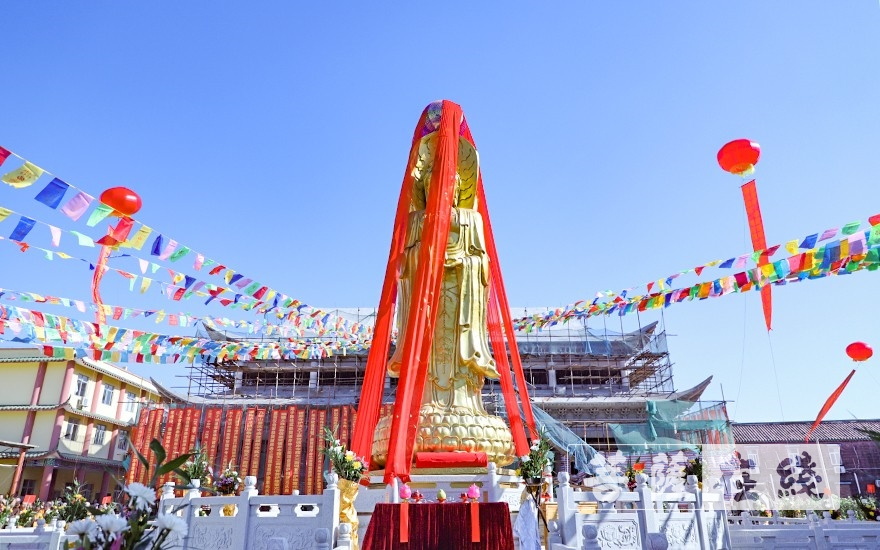 肇庆彼岸寺举行露天三面观音菩萨像重光庆典法会