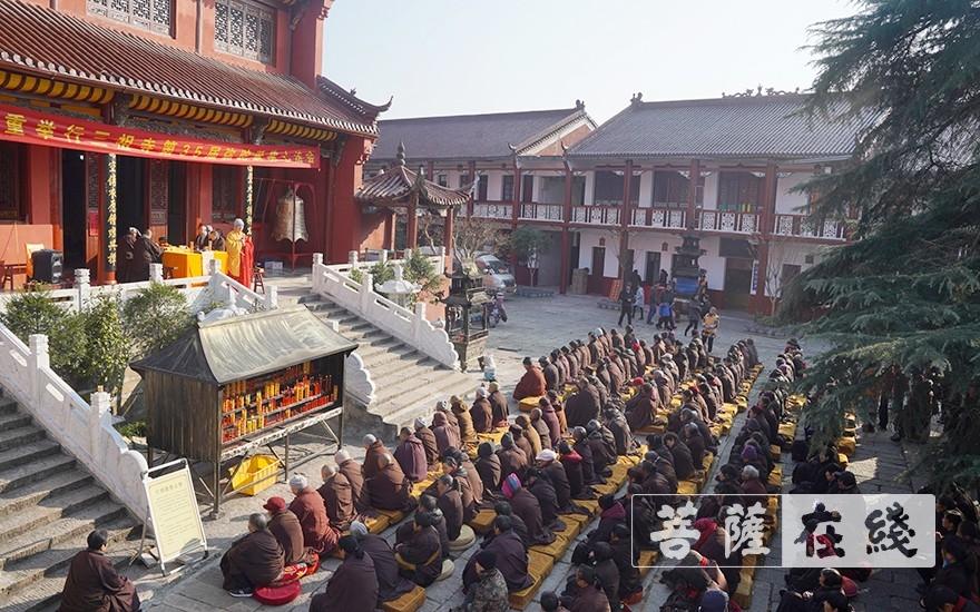 安徽三祖禅寺举行第35届弥陀诞佛七举行传授八关斋戒法会